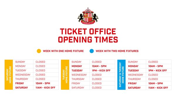 TO opening times